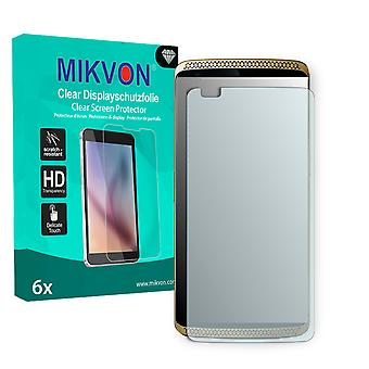 ZTE Axon Screen Protector - Mikvon Clear (Retail Package with accessories) (intentionally smaller than the display due to its curved surface)
