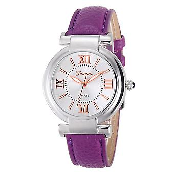 Ladies Girls Analogue Smart Rose Gold Silver Watch Watches Kids Purple Strap