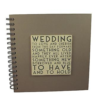 East of India Vintage Style Wedding Day Guest Book