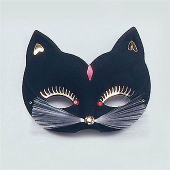 Cat Eye Mask. Large, Black.