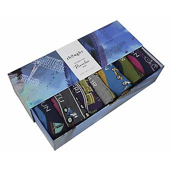Need for Speed Gift Box by Thought | 7 pairs men's bamboo crew socks