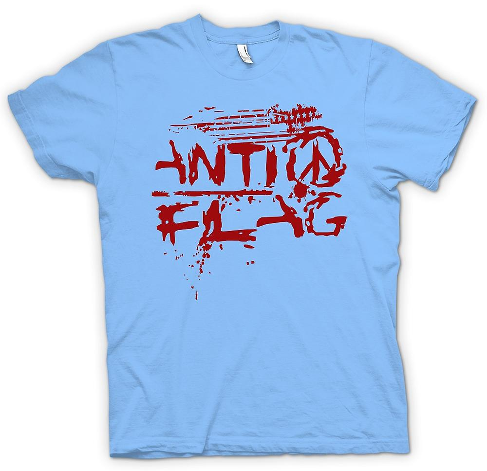 Mens t-shirt-Anti - Flag - U.S. - Punk Rock Band - anarchia