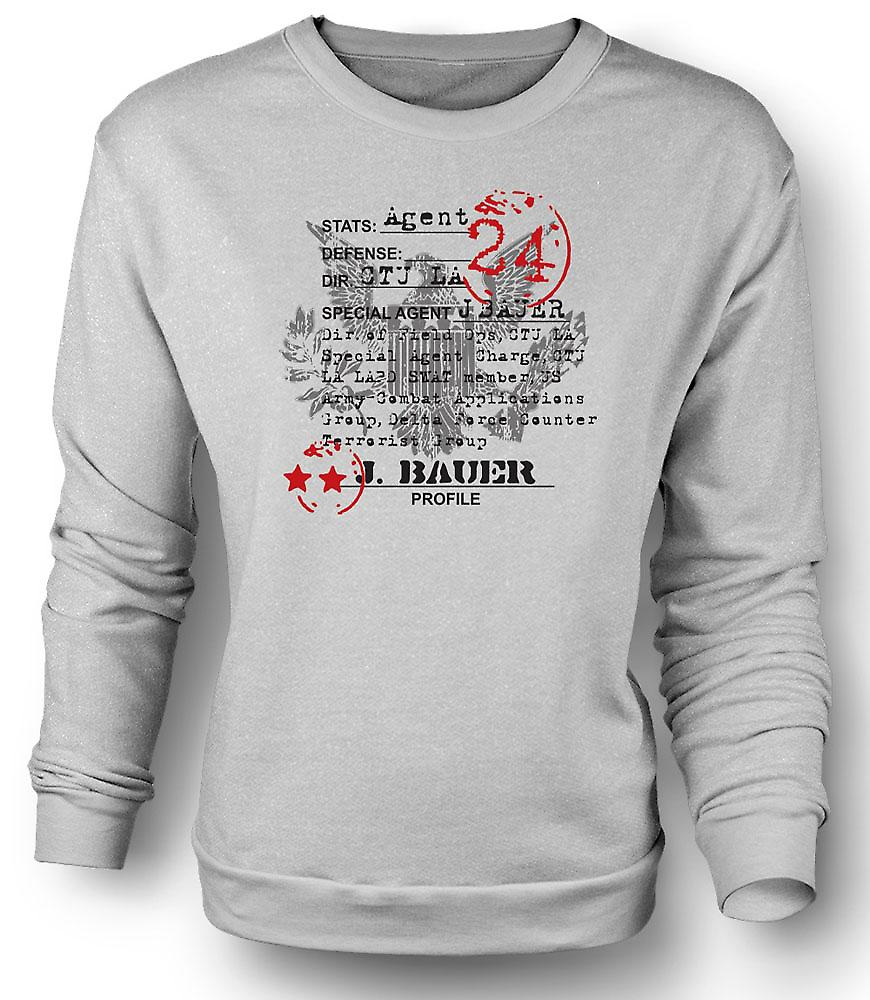 Mens Sweatshirt 24 Jack Bauer CTU Agent CIA - TV - Film