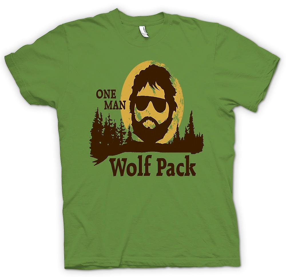Mens T-shirt - The Hangover One Man Wolf Pack - Funny