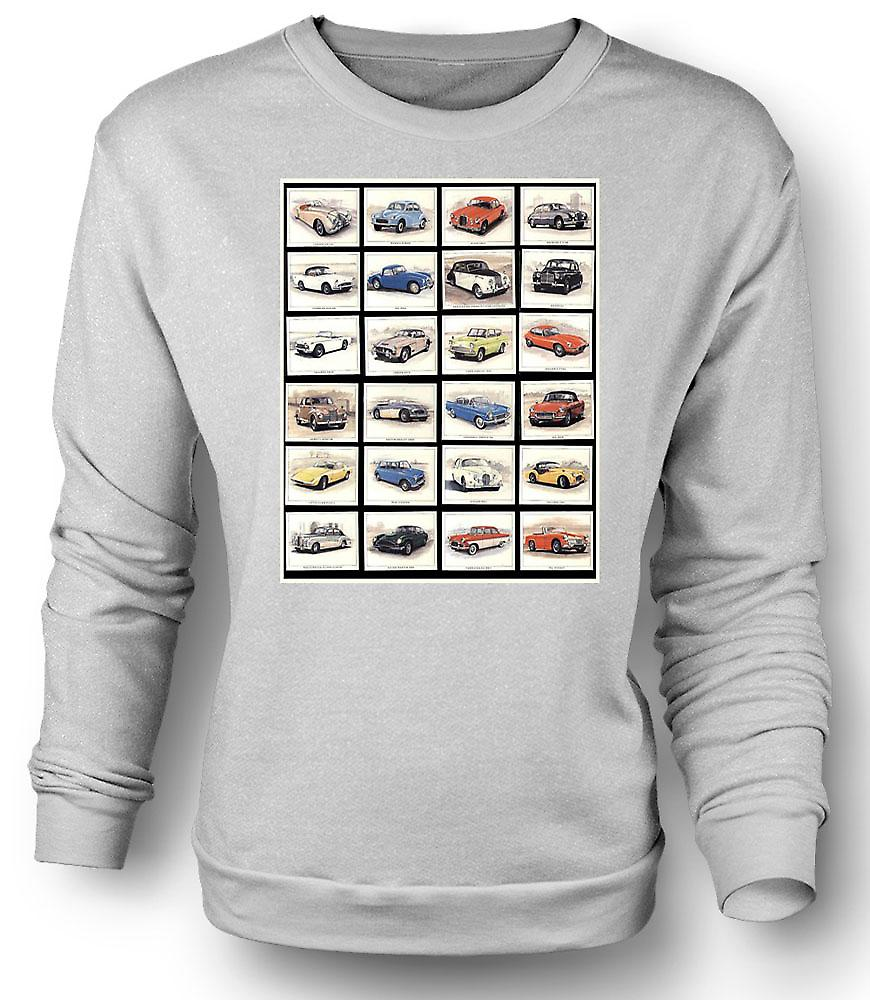 Mens Sweatshirt klassisk bil Collage - plakat