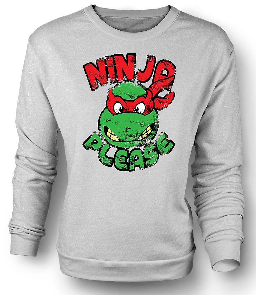 Mens Sweatshirt Ninja Please - Raphael
