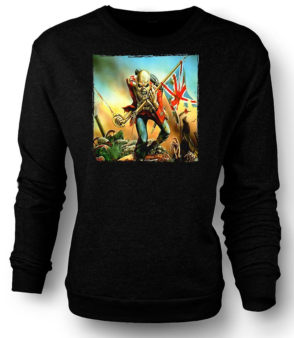 Mens Sweatshirt Iron-Maiden - Trooper - Album-Cover