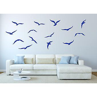 Set of 14 Seagulls Bird Wall Sticker