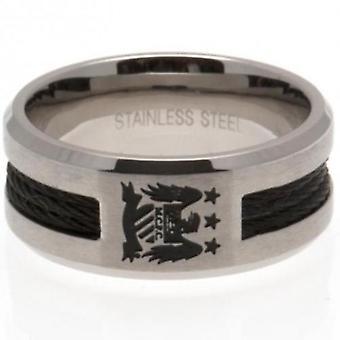 Manchester City Black Inlay Ring Medium EC