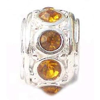 TOC BEADZ Topaz 7mm Crystal Slide-On and Slide-Off Bead