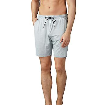 Mey Men 65650-620 Men's Jefferson Light Grey Melange Pyjama Short
