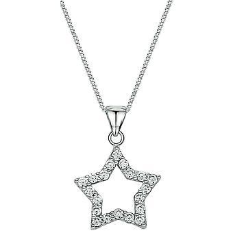 Bella Open Star Pendant - Silver
