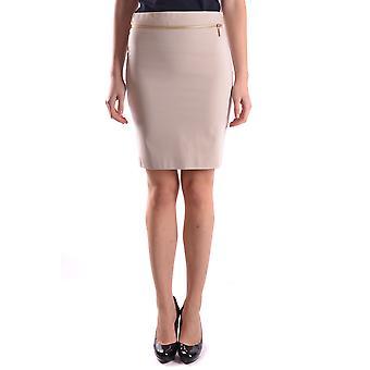 Falda de algodón Beige de Liu Jo