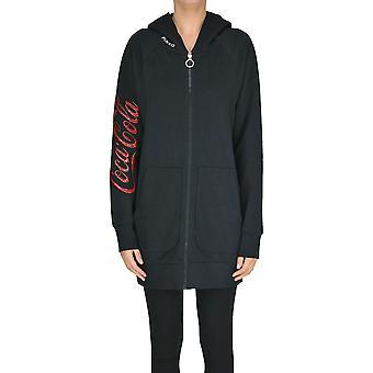 Pinko Black Cotton Sweatshirt