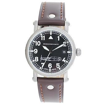Aristo Herren Messerschmitt Uhr Fliegeruhr Edelstahl Automatic BF109 braun