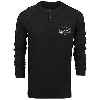 Quiksilver Mens Polar Waters LS Raglan Shirt - Tarmac Gray