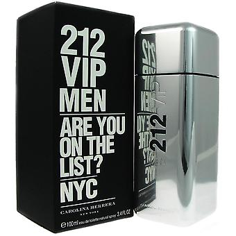 212 vip for mænd af carolina herrera 3,4 oz eau de toilette spray