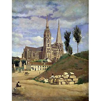 The Cathedral of market analyses, Corot, Camille, 50x38cm