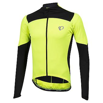 Pearl Izumi Screaming Yellow-Black Pro Pursuit Wind Long Sleeved Cycling Jersey