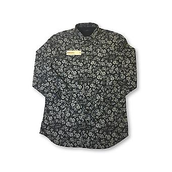Diesel Achi shirt in black and grey floral pattern