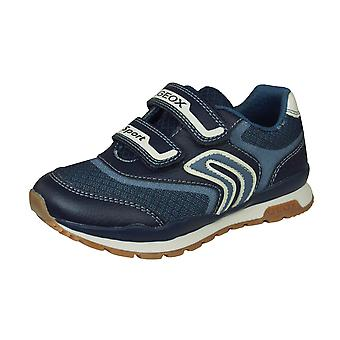 Geox J Pavel A Mesh Boys Trainers / Shoes - Navy