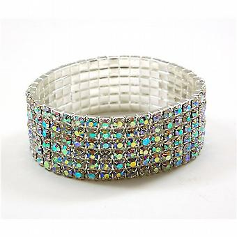 TOC Iridescent Extra Wide Elasticated Bracelet