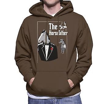 The Horsefather BoJack Horseman Godfather Men es Hooded Sweatshirt