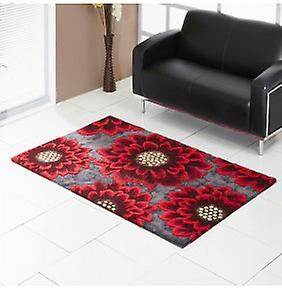 Rugs -Unique Poppy - gris & rouge