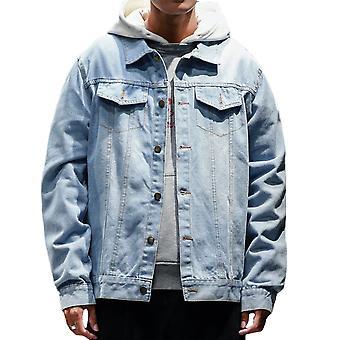 Veste en Jean allthemen pour homme épaissi coton Slim Fit denim Coat