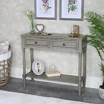 Taupe 2 Drawer Console Table - Hornsea Range