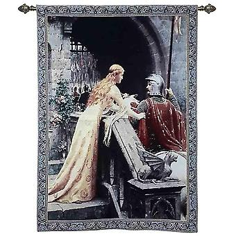 Edmund leighton - god speed wall hanging by signare tapestry / 98cm x 139cm