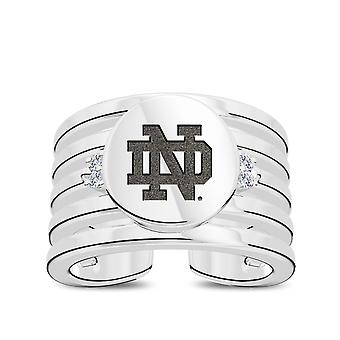 University Of Notre Dame - Notre Dame Logo Engraved Multiband Cuff Ring