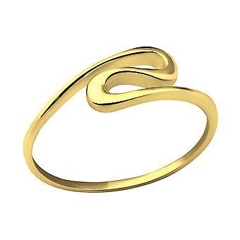 Onda - anillos de llanura de plata esterlina 925 - W30639X