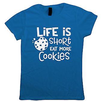 Livet er kort spise flere cookies dame T-shirt | Kage Scone brød kage kiks pie konditori | Bagning madlavning køkkenredskaber ovn forklæde bakke | Bagning mad gave hendes mor