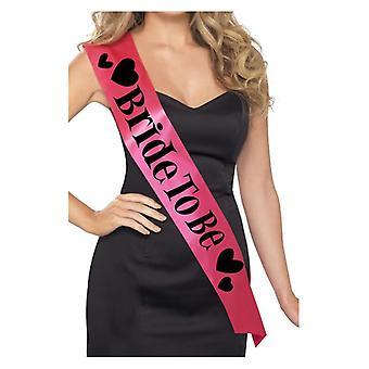 Womens rosa Braut Schärpe Junggesellinnenabschied Accessoire