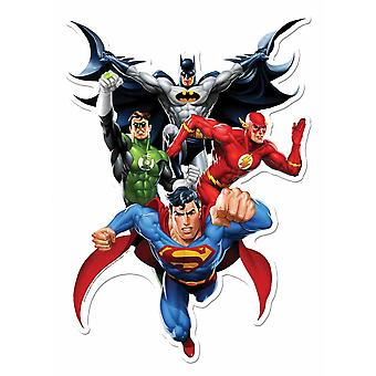 Justice League Heroes 3D Effect Official DC Comics Cardboard Cutout Wall Art