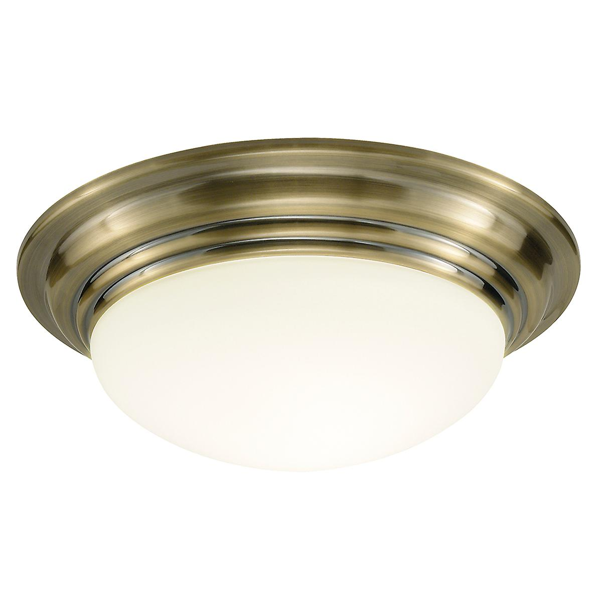 Dar BAR5275 Barclay Traditional Antique Bathroom Flush Ceiling Light - 31cm