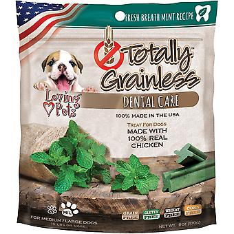 Totally Grainless Dental Bones For Large Dogs 6oz-Fresh Mint LP5314