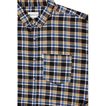 BadRhino senape spazzolata camicia controllata