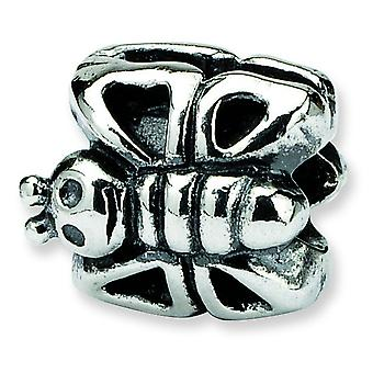 Sterling Silver Reflections Kids Butterfly Bead Charm