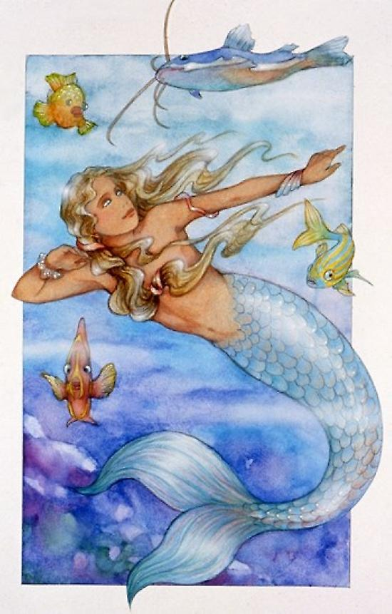 Mermaid 2 Poster Print by Susan Edison (24 x 36)
