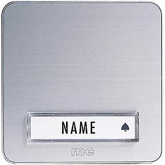 Bell panel with nameplate 1x m-e modern-electronics KTA-1 A/S Silver 12 V/1 A