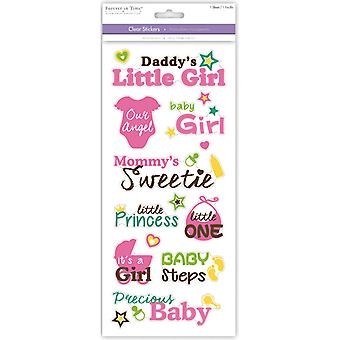 MultiCraft Family & Friends Clear Stickers-Precious Baby Girl SS495M