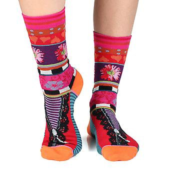 Reveal women's crazy combed cotton crew socks | French design by Dub & Drino