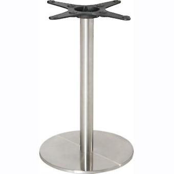 Hali Table Base - Stainless Steel - Round