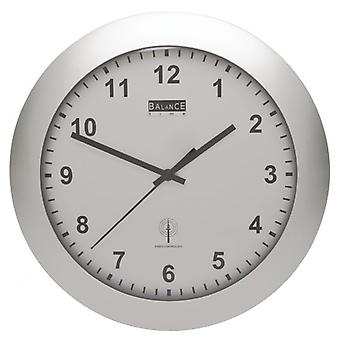 Balance the Radio-Controlled Wall Clock 30 cm Analogue Silver