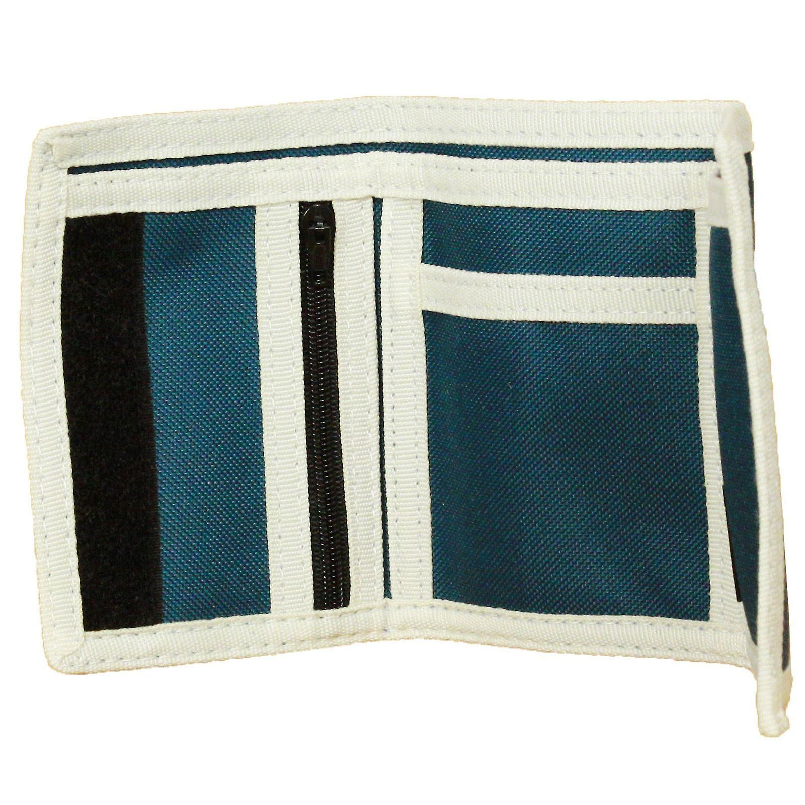 Element driebladige portemonnee met de binnenzakken en Zipped munt sectie ~ Elemental Marokkaanse blauw