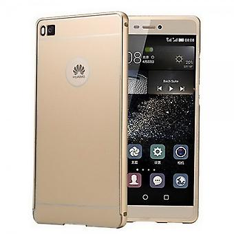 Aluminium bumper 2 pieces with cover gold for Huawei Ascend P8