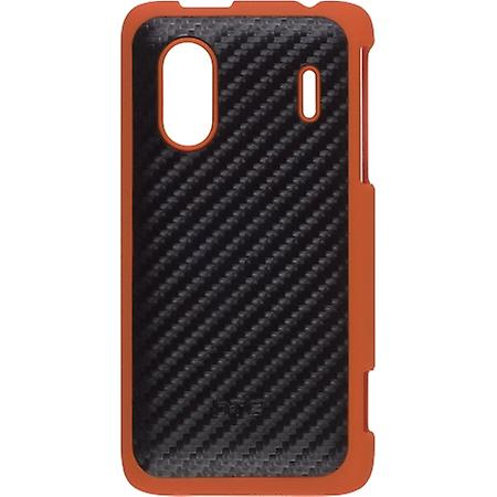 HTC Hard Shell Case for HERO S, EVO Design 4G - Black/Orange
