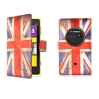 Design Buch PU Leder Case Cover für Nokia Lumia 1020 - Union Jack UK Flagge